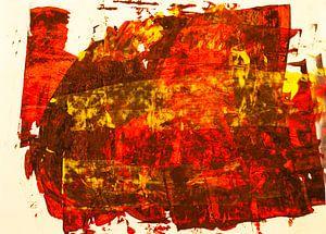 Rotgelbe Rakelfläche