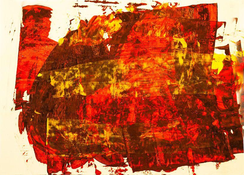 Rotgelbe Rakelfläche von Klaus Heidecker