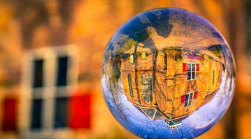 Slotkapel in de glazenbol van