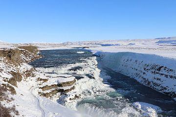 Waterval in IJsland von Charella Hulsbosch