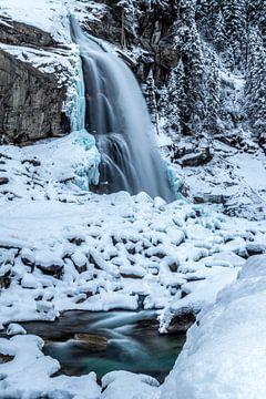 Wasserfall im Schnee von Durk-jan Veenstra