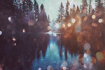 Magical Forest Fluss Spiegelung, Nature Magick  von PI Creative Art