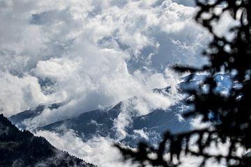 Bergen, natuur, wolken, mist van Dominik Imhof