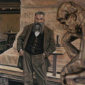 Auguste Rodin Schilderij von Paul Meijering