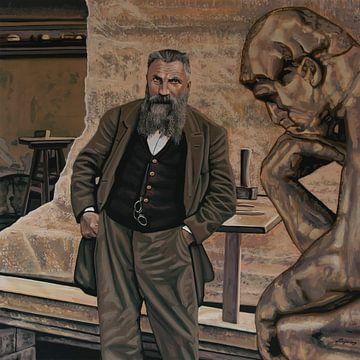 Auguste Rodin Schilderij