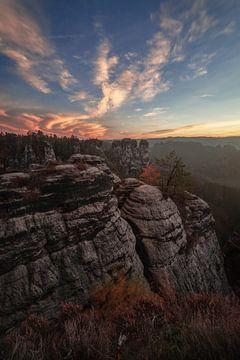 Nationalpark Sächsische Schweiz im Herbst von Thomas Weber