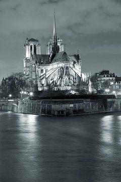 Kathedrale Notre Dame bei Nacht, Paris von Markus Lange