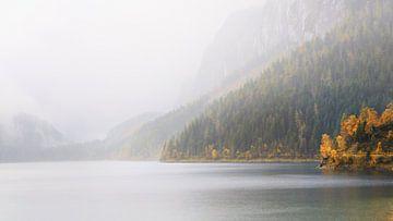 Ein Bergsee im Nebel von Coen Weesjes