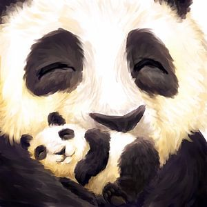 Schattige panda's van