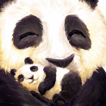 Cute panda baby sur
