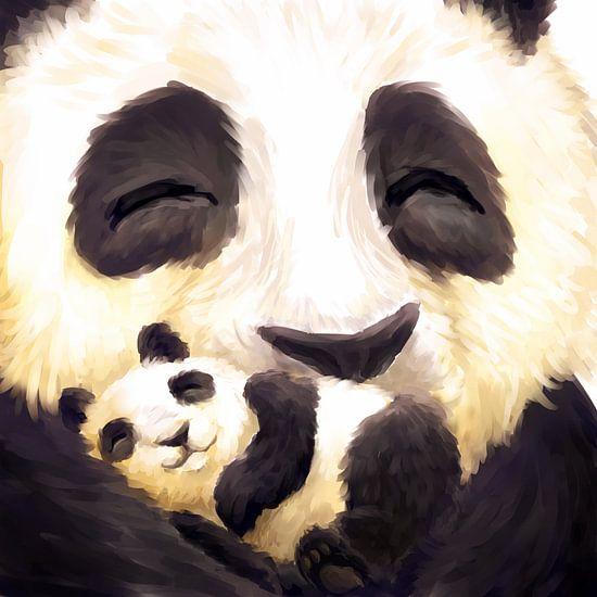 Schattige panda's van Petra van Berkum