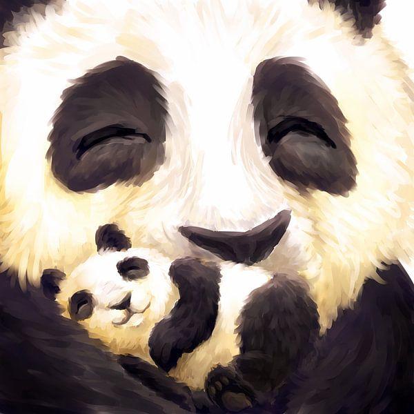 Schattige panda's