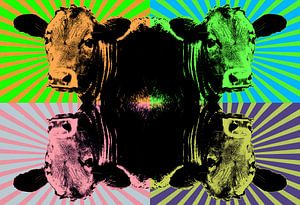 Pop Art van een koe