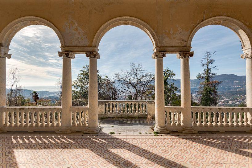 Uitzicht vanaf balkon van Perry Wiertz