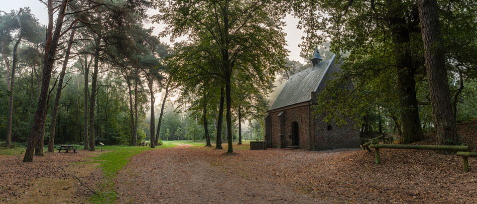 Misty Morning Willibrorduskapel van William Mevissen