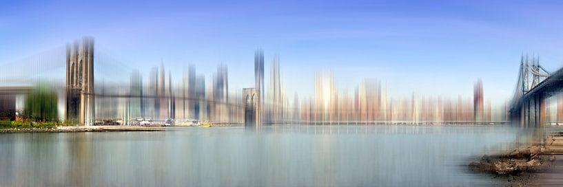 City-Art Manhattan Skyline I van Melanie Viola