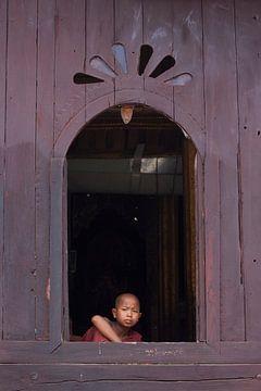 Moine au Myanmar sur Carolien van den Brink