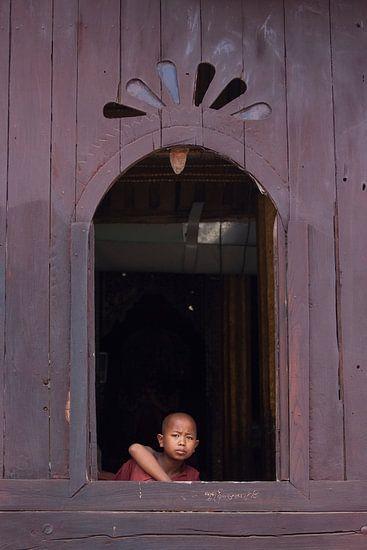 Monnik in Myanmar