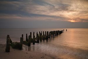Groyne on the Baltic Sea coast