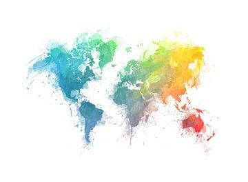 Weltkarte 19 #Karte #Weltkarte von JBJart Justyna Jaszke