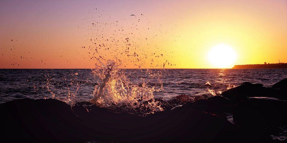 Splish Splash an der Meeresküste van Tanja Riedel