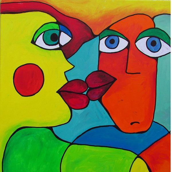 Abstrakte Kunst - Abstract Kissing von Patricia Piotrak