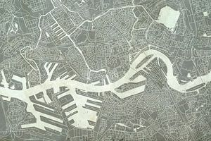 Rotterdam | Stadskaart in Betonlook