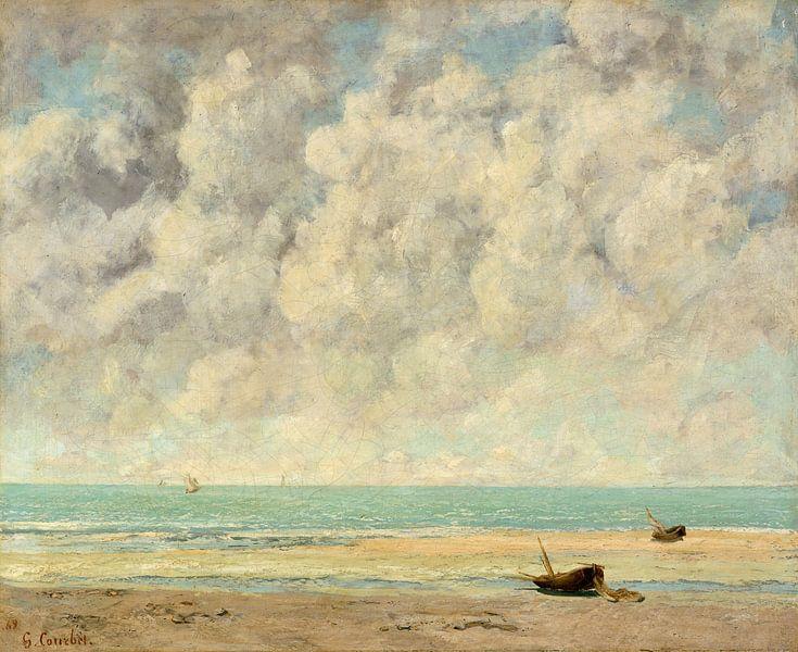 Das ruhige Meer von Gustave Courbet von Schilders Gilde