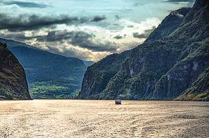Aurlandsfjord na een flinke bui van