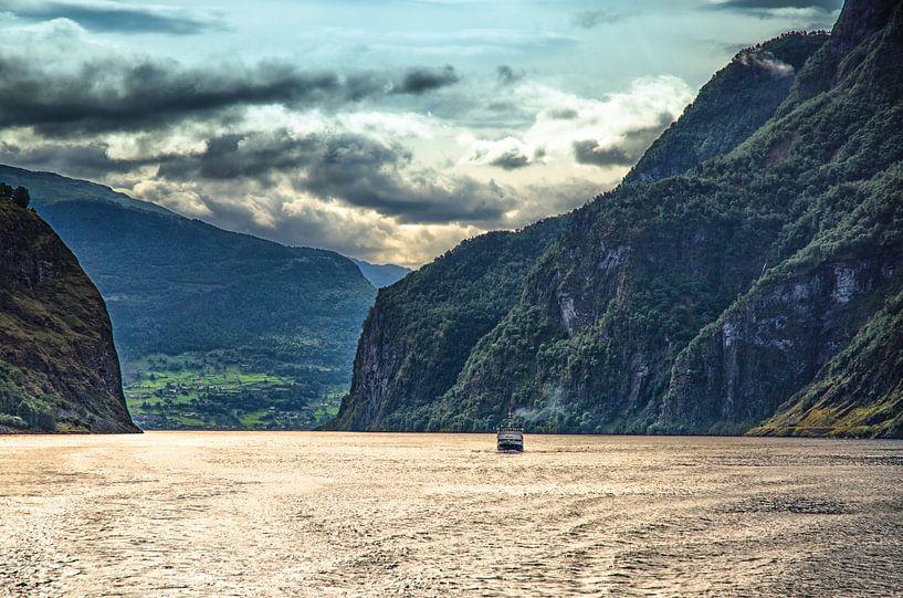 Aurlandsfjord na een flinke bui van Karin Mooren