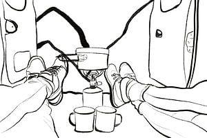 Koffie in de kamper