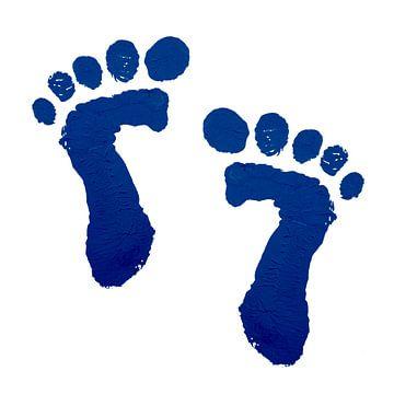 Blue Baby Füße drucken von Natalie Bruns
