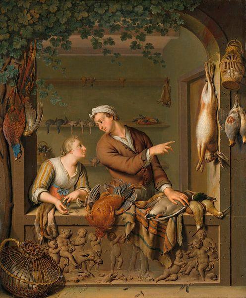 Der Geflügelverkäufer, Willem van Mieris von Meesterlijcke Meesters