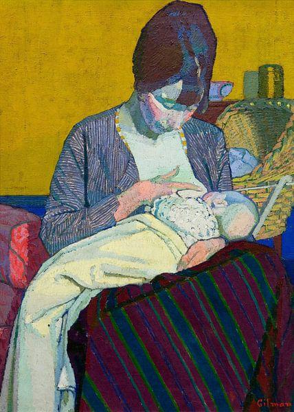 Harold Gilman~Mutter und Kind von finemasterpiece