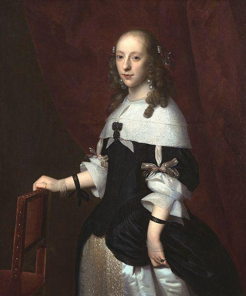 Porträt einer Frau, Isaack Luttichuys von Meesterlijcke Meesters