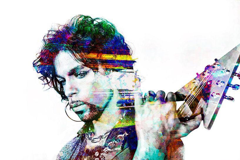 Abstraktes  Prince porträt in verschiedenen Farben von Art By Dominic