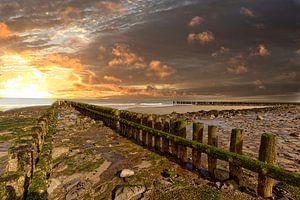 Abenddämmerung in Zeeland von Robert Jan Smit