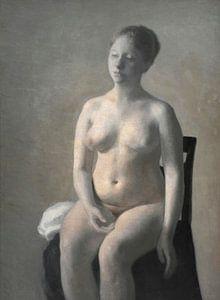 Sitzender weiblicher Akt, Vilhelm Hammershøi