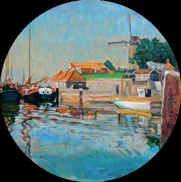 Haven in Zierikzee in Zeeland van Atelier Liesjes