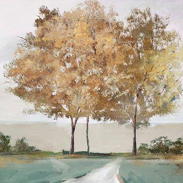 Golden Forest Shimmer, Isabelle Z  van PI Creative Art