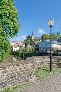 Oude binnenstad van Kettwig an der Ruhr van Peter Eckert