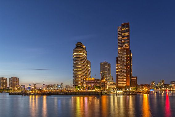 Rotterdam Skyline - Wilhelminapier  van Tux Photography