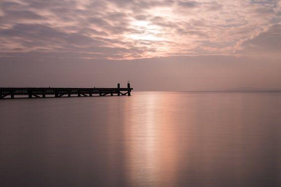 steiger Veerse meer in het ochtendlicht