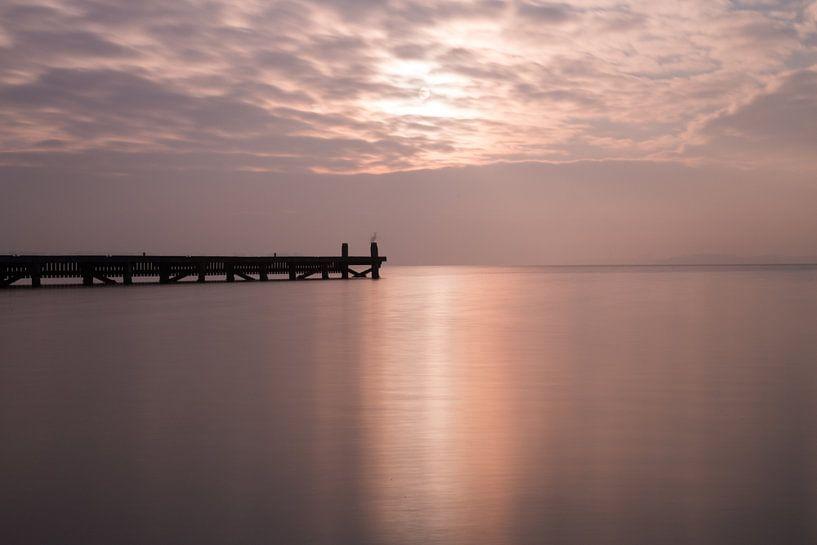 steiger Veerse meer in het ochtendlicht sur Annemiek Gijsbertsen