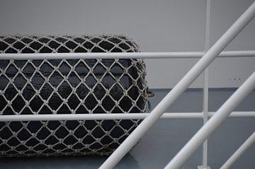 Schip Rotterdamse haven van Marieke van der Hoek-Vijfvinkel
