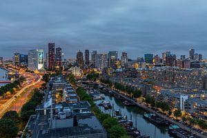 De skyline van Rotterdam