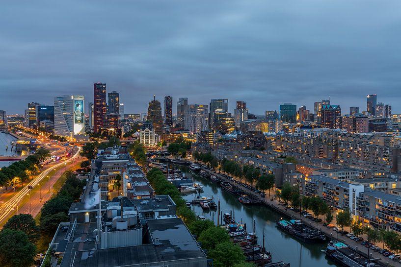 De skyline van Rotterdam van MS Fotografie   Marc van der Stelt