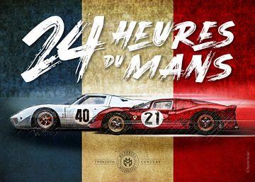 Le Mans Vintage Poster von Theodor Decker