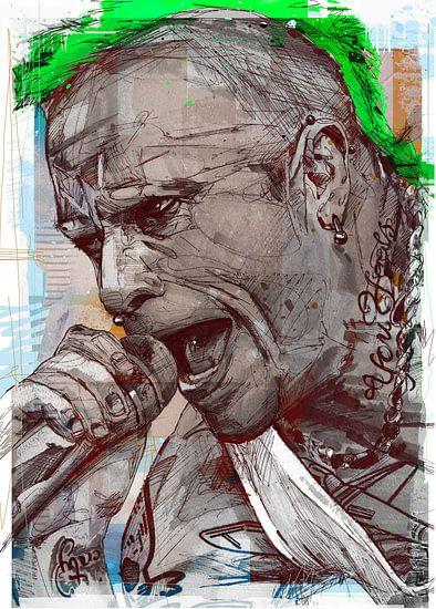 Keith Flint (the Prodigy) pop art