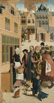 Die sieben Werke der Barmherzigkeit (Teil 1) Meister von Alkmaar